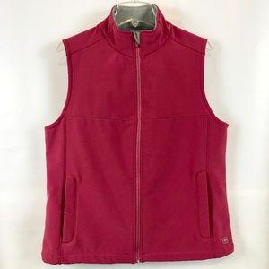 Soft shell stretch layering vest, EUC